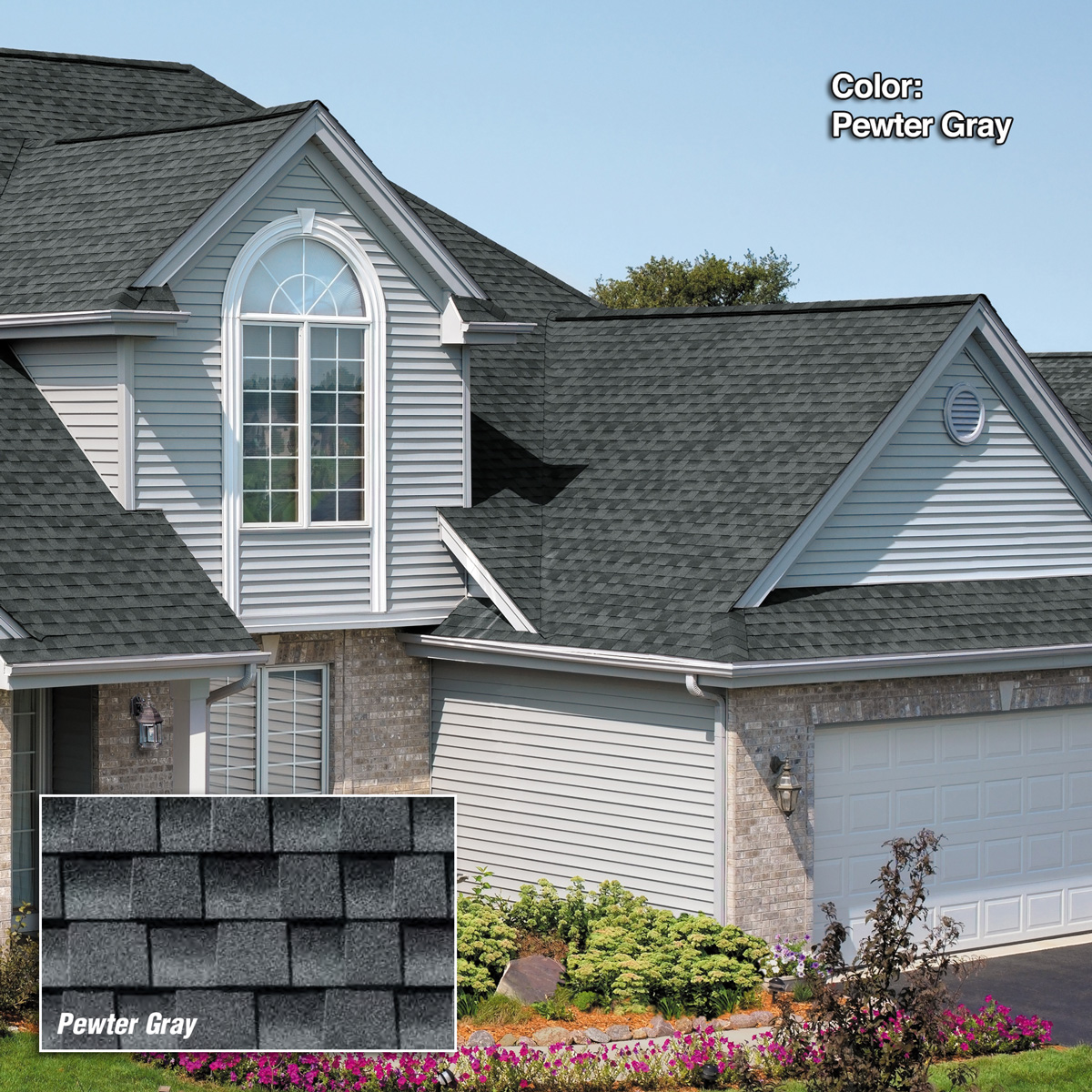 Pewter Gray Shadow Ridge Roofing